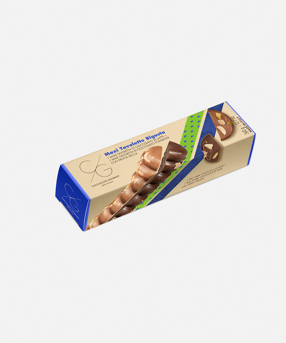2-in-1 Maxi Chocolate Bars dried fruits