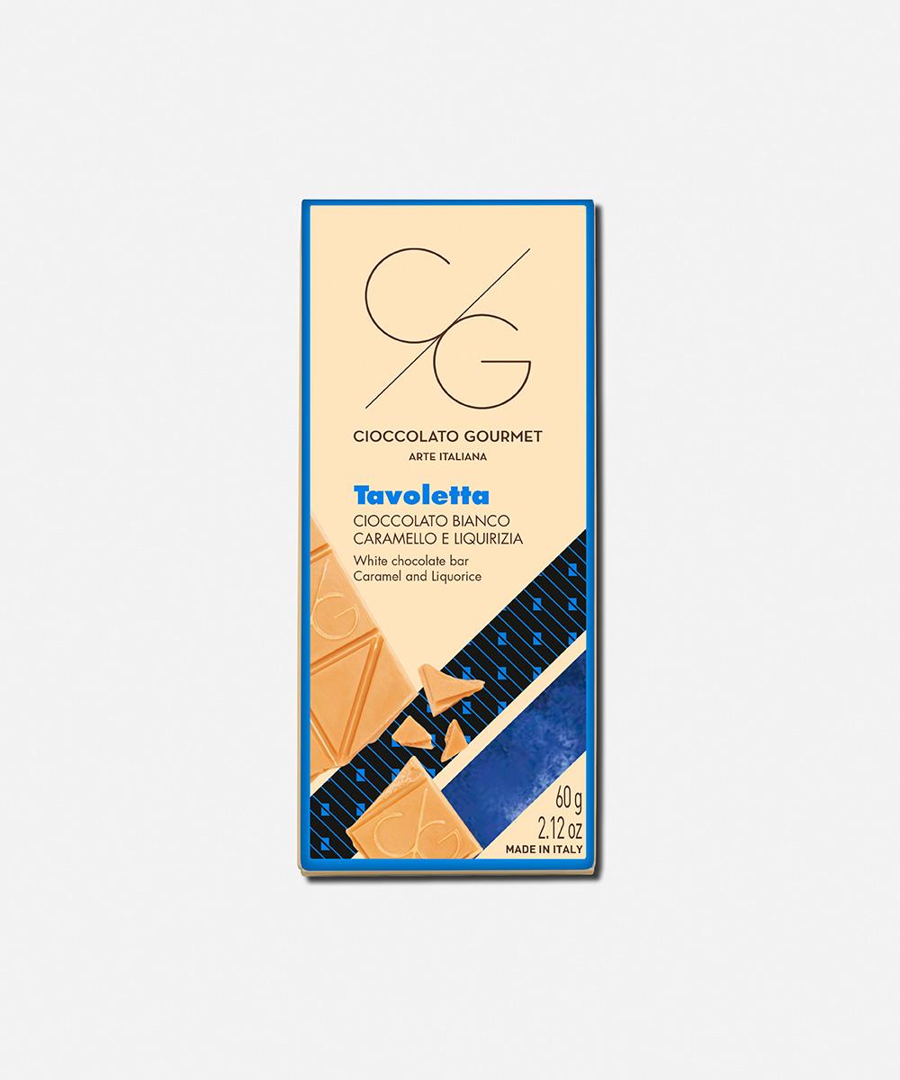 Cioccolato bianco caramello e liquirizia