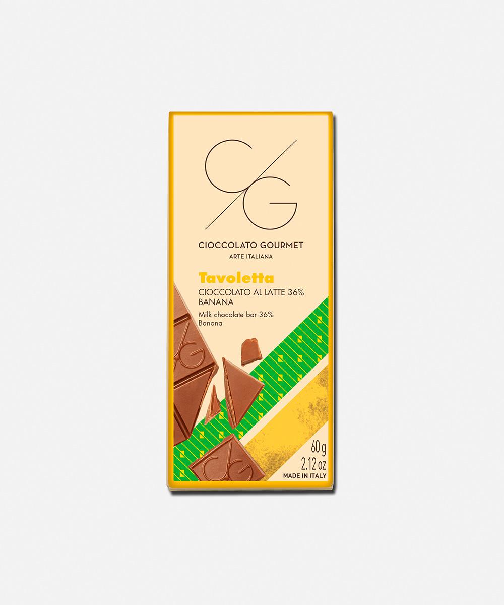 Cioccolato al latte 36% e banana