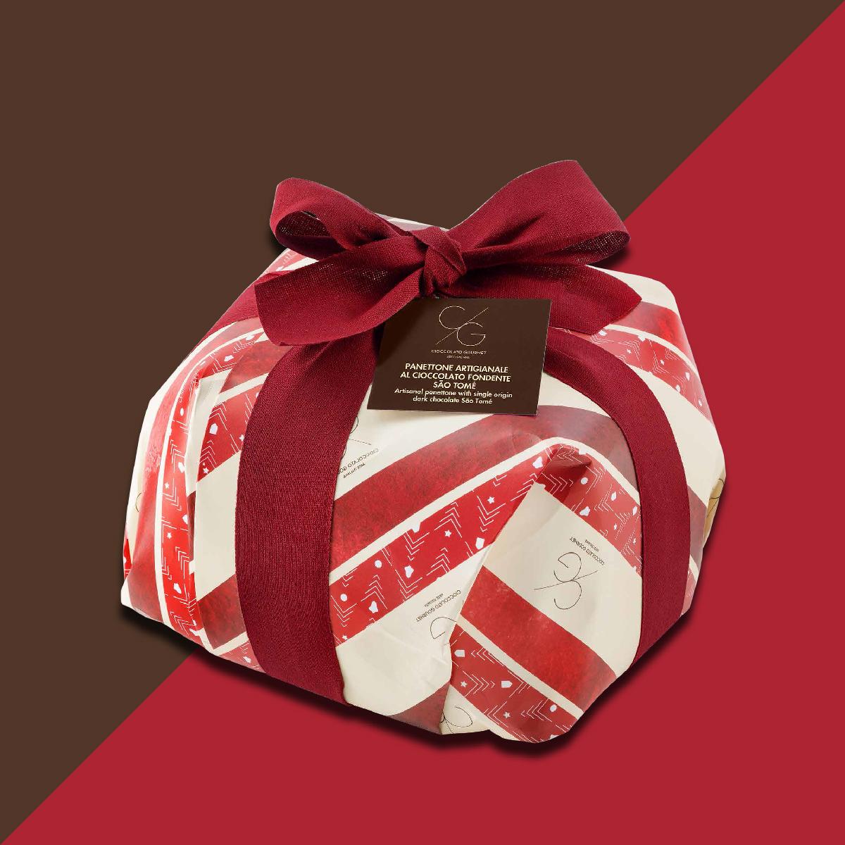 Artisanal panettone with single origin dark chocolate